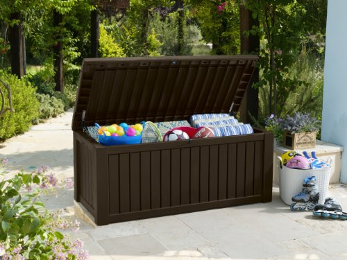 auflagenbox keter rockwood infos aussehen merkmale. Black Bedroom Furniture Sets. Home Design Ideas