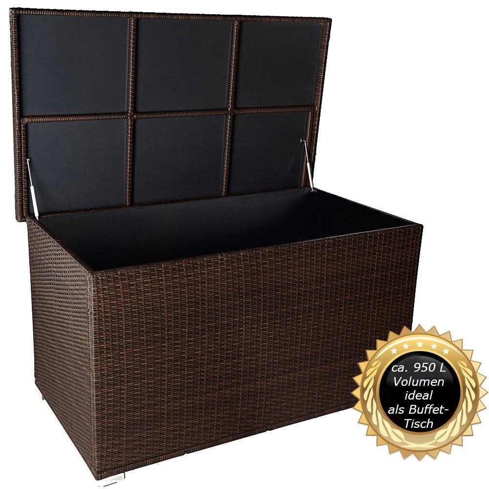 Rattan Auflagenbox 950l Wasserdicht